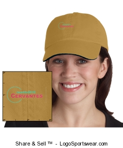 Sandwich Bill Cap with Striped Closure Design Zoom